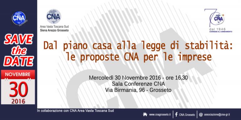 DAL PIANO CASA ALLA LEGGE DI STABILITA': LE PROPOSTE CNA PER LE IMPRESE