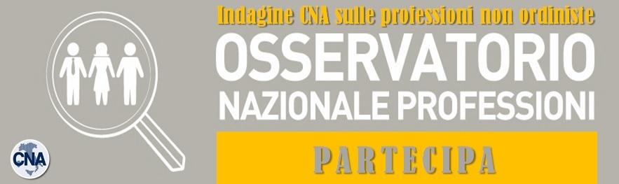INDAGINE CNA SULLE PROFESSIONI NON ORDINISTE