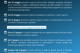 Anche in Toscana riapertura dal 18 maggio